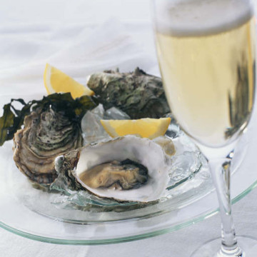 Champagne met oesters