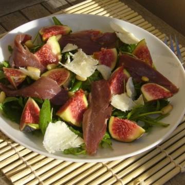 Salade eendenborst met vijgen