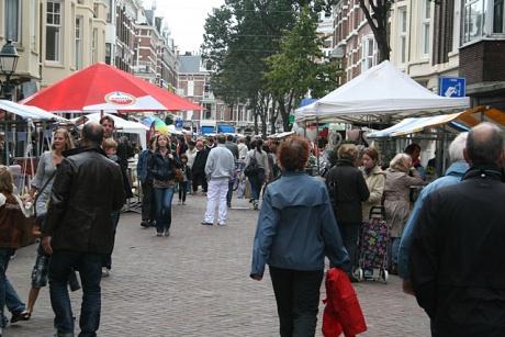 Bubbels op de Internationale Markt Den Haag