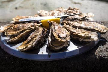 oesters met citroen en oestermes